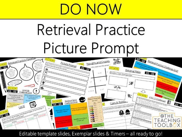Do Now Retrieval Practice - Picture Prompt