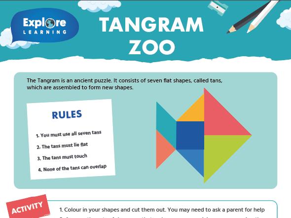 Free_Tangram zoo_maths activity sheet