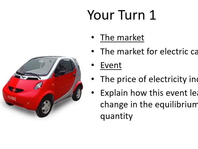Supply & Demand - Explaining Changes in Equilibrium