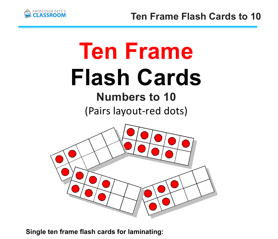 Ten Frames Flashcards: Pairs layout by ProfPete_au - Teaching ...