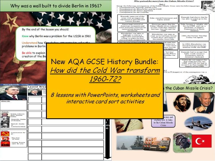 Contemporary history 1901 Present Day teaching resources Cold – Cold War Worksheets