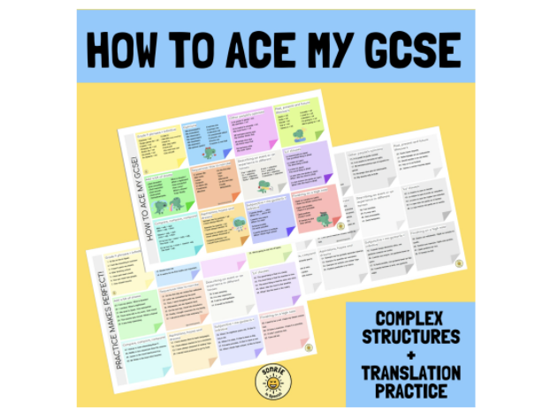 Complex structures GCSE Spanish. Learning mat and translation practice. Answers included