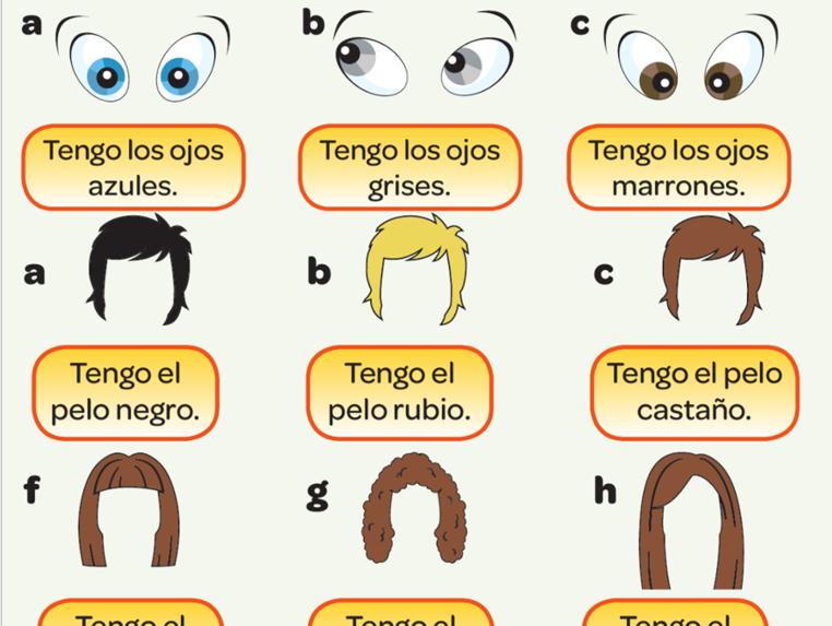 KS3 Spanish - Las descripciones. Los ojos y el pelo.