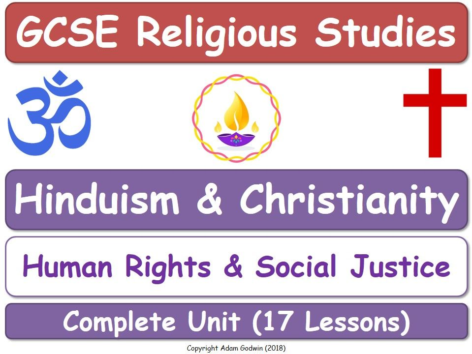 Hinduism & Christianity - Religion, Human Rights & Social Justice (17 Lessons)