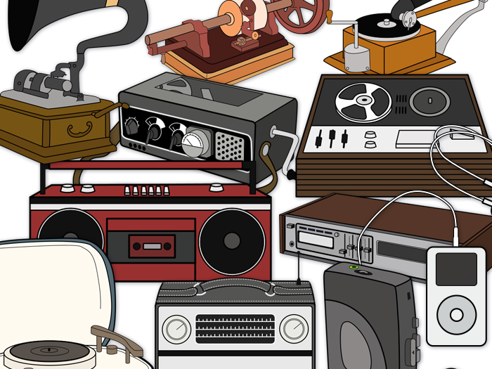 Music Players, Record Player Clip Art