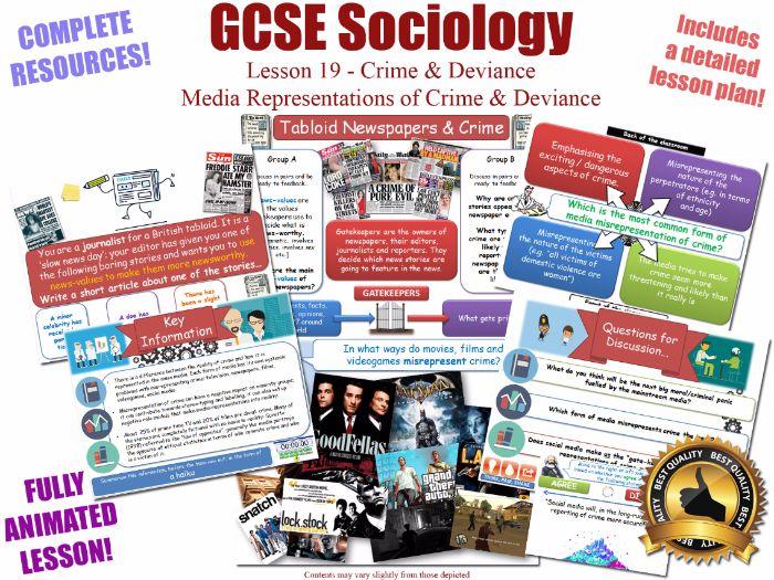 Media Representations & Moral Panics - Crime & Deviance L19/20 [ WJEC EDUQAS GCSE Sociology ] KS4