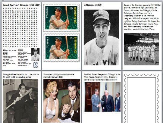 Joe DiMaggio Word Search Bundle