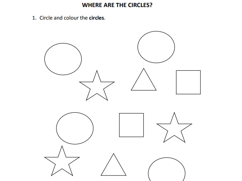 Where are the shapes? for Nursery and Reception students