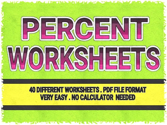 EASY PERCENT WORKSHEETS