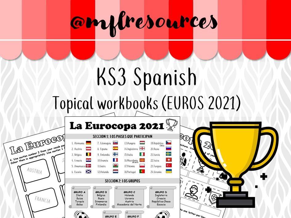 Spanish KS3 - Eurocopa 2020 (Euros 2020) - Booklet of activities