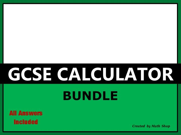 GCSE Calculator Bundle