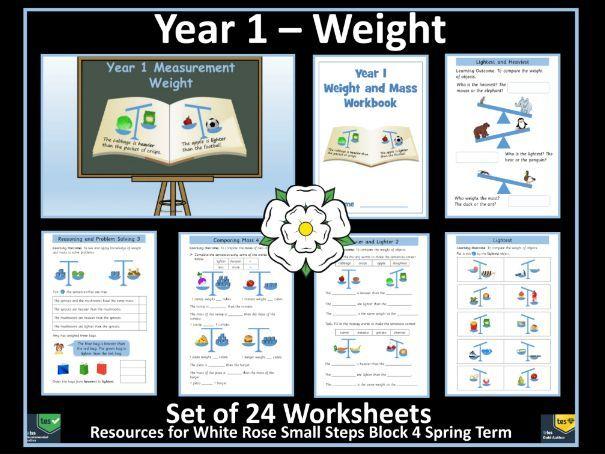 Weight and Mass - Year 1 - White Rose Maths