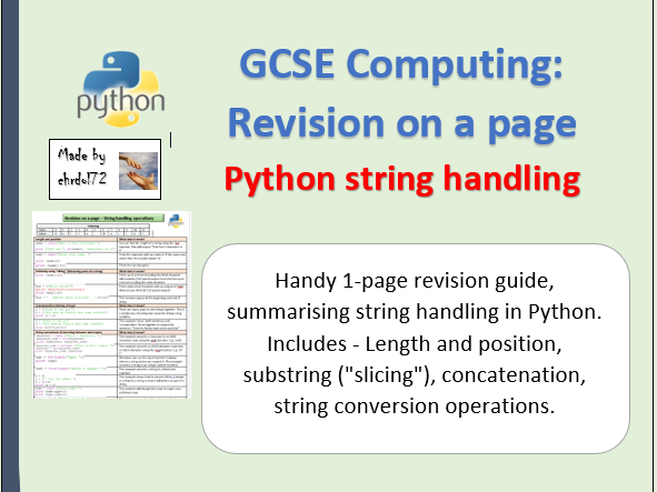 Python string handling - Revision on a page