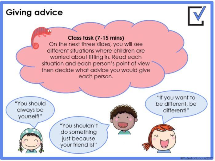 Have you ever worried about people carrying knives? (KS2) / Is it important to fit in? (KS1)
