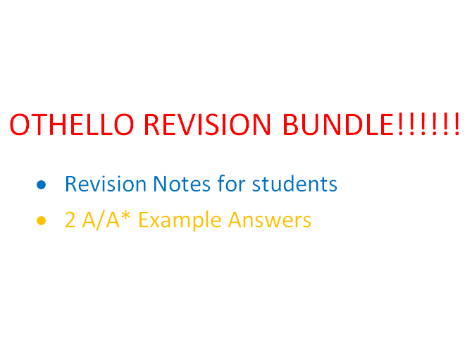 A-LEVEL OTHELLO REVISION BUNDLE