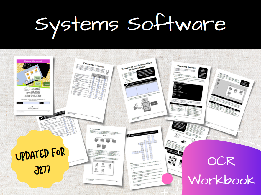Systems Software OCR GCSE Computer Science Workbook (J277)