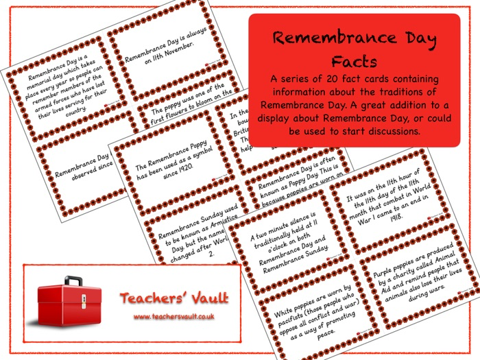 Remembrance Day Facts