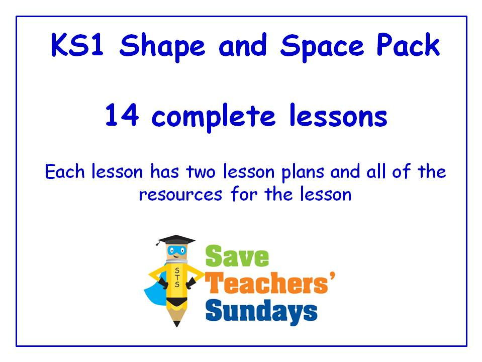 KS1 Shape and Space Lessons Bundle / Pack (14 Lessons)