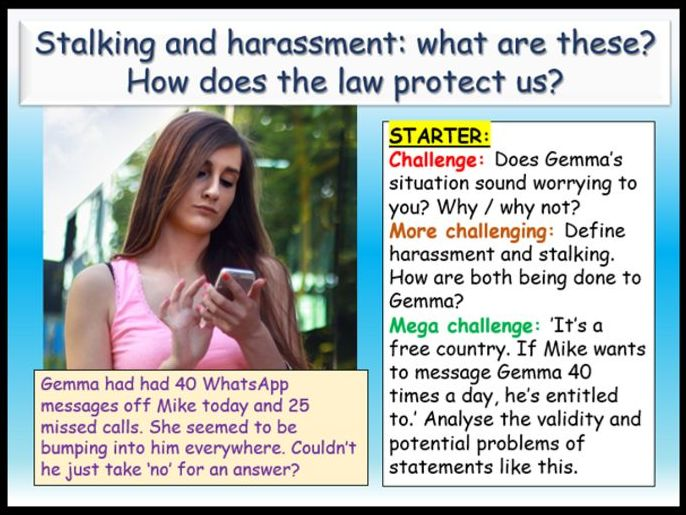 Stalking + Sexual Harassment