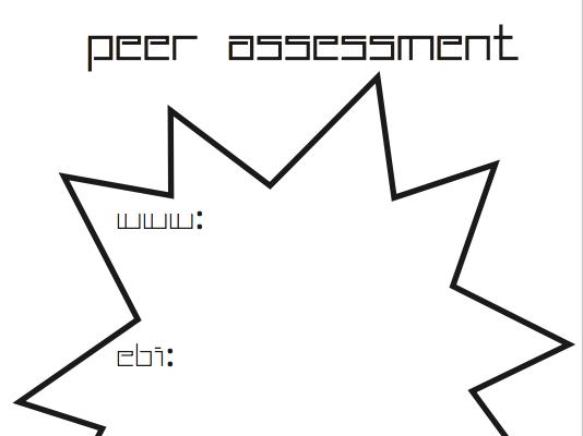 Peer Assessment Stars - WWW, EBI