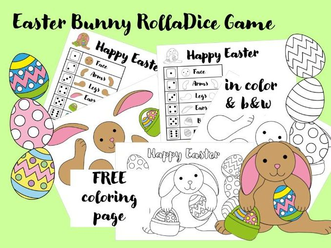 Roll a Bunny Easter Dice Game