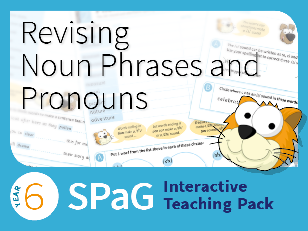 Year 6 SPaG Interactive Teaching Pack - Revising noun phrases and pronouns