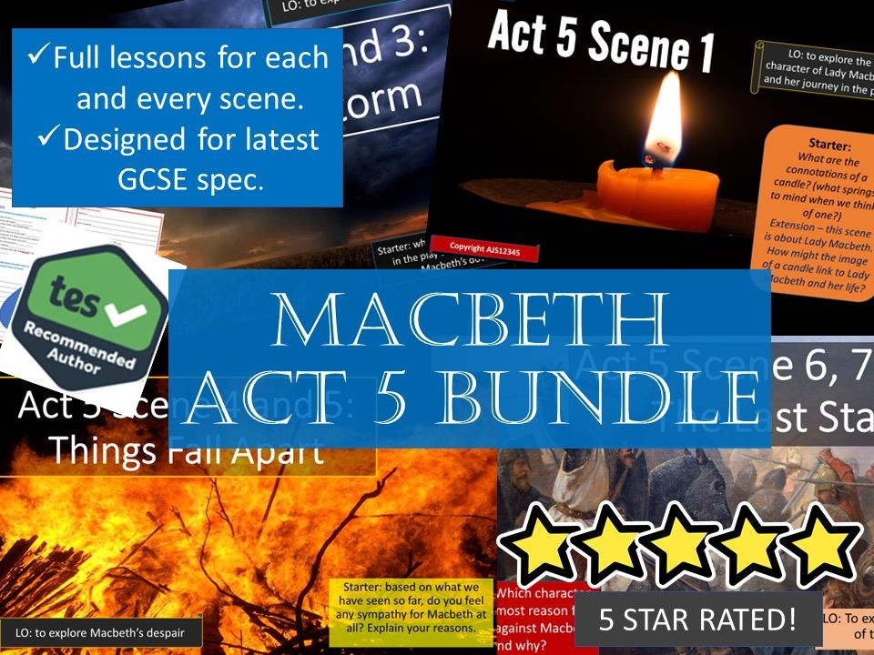 Act 5 Scheme of Work Macbeth GCSE