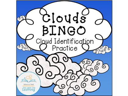 Clouds Identification BINGO cards (30 unique)