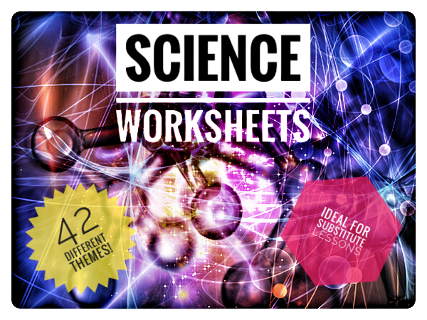 Science cover lesson / substitute lesson worksheets