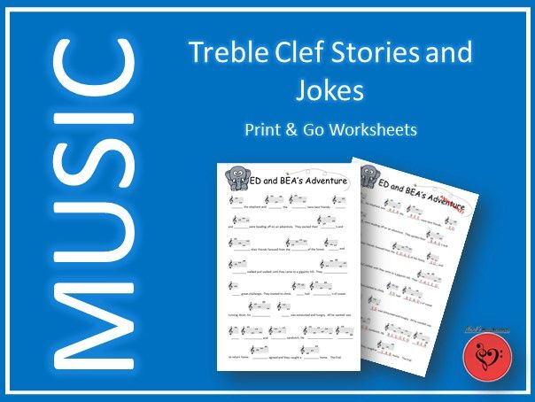 10 Treble Clef Stories and Jokes - Printable and Digital