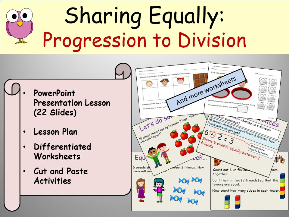 Division: Sharing Equally - Presentation, Lesson Plan, Activities ...