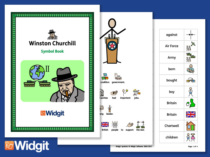 Winston Churchill - Books and Activities with Widgit Symbols