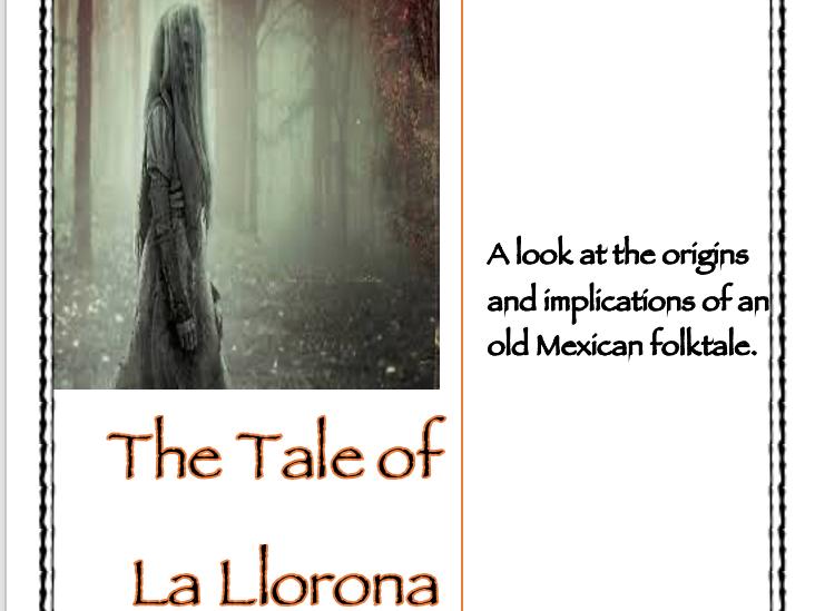 The Mexican Folktale of La Llorona: Worksheet Packet