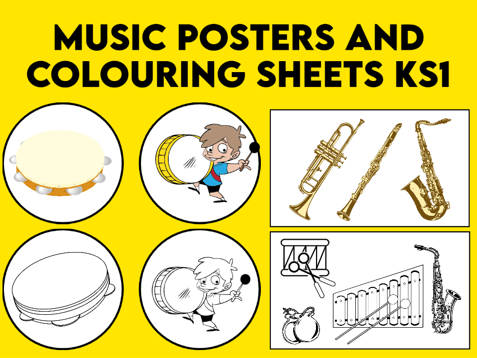 Music Posters and Colouring Sheets KS1