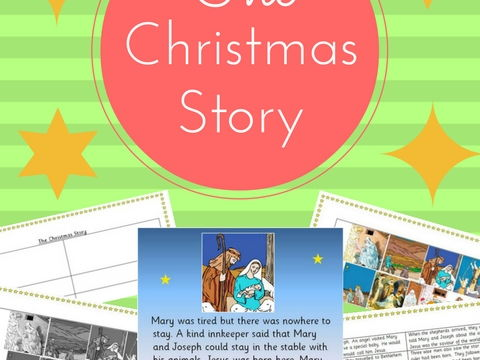 The Christmas Story, Nativity; Birth of Jesus, reading and retelling activity