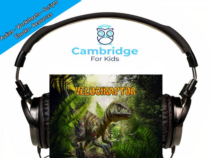 The Velociraptor Audiobook & Comprehension Activities / Worksheets / eBooks