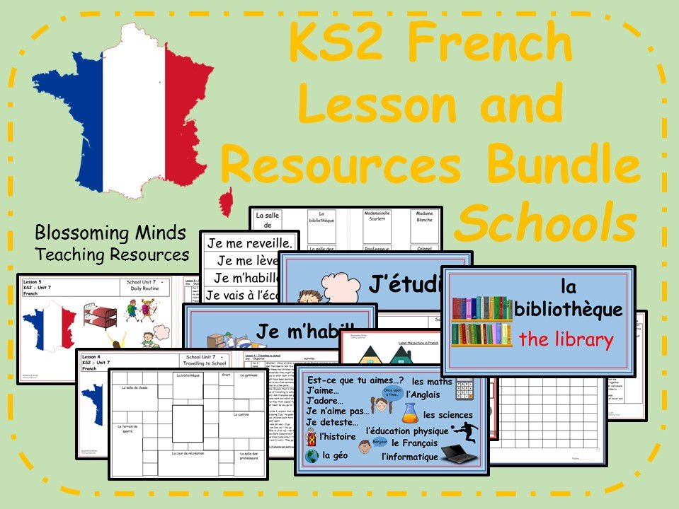 French Lesson Bundle - KS2 - Schools