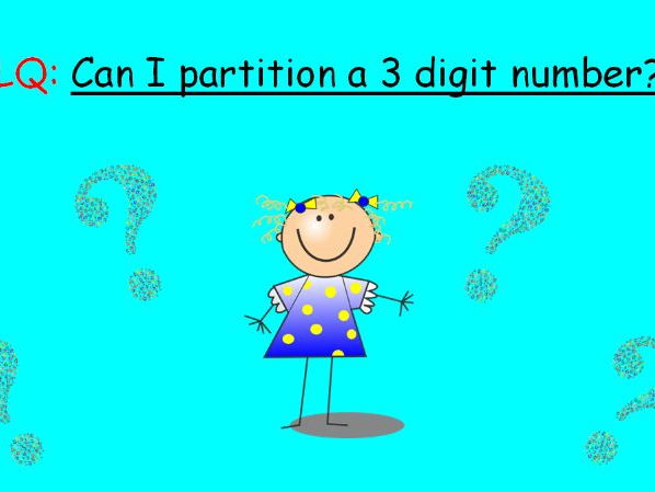 Super partitioning pp and differentiated worksheet (3 digit numbers)