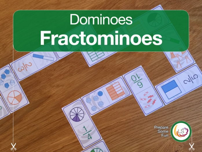 Fractominoes Fractions Dominoes Game