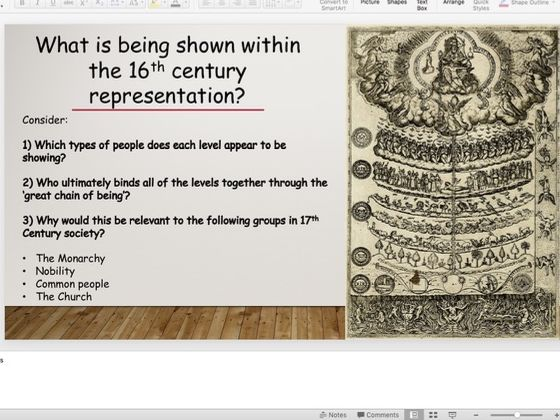 How was society structured in 1603?