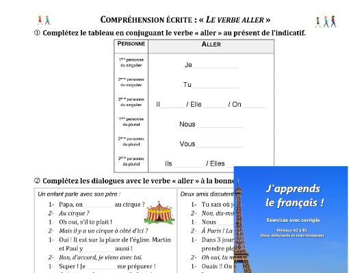 "Le verbe ""ALLER"" - The verb ""ALLER"" (to go)"