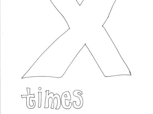 Times: Mathematical Symbols Colouring Page