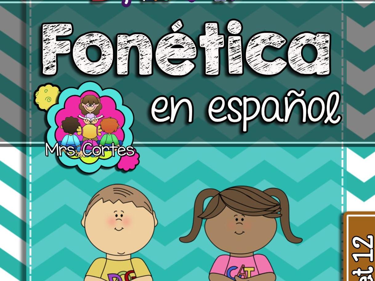 Spanish Phonics Super Bundle # 2: Sets 7-12