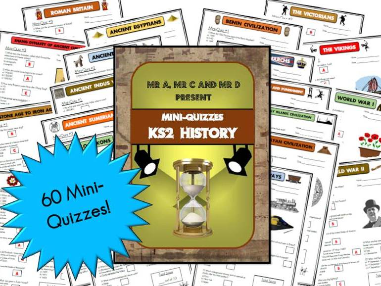 BUNDLE - KS2 History Mini-Quizzes / Multiple Choice Assessment