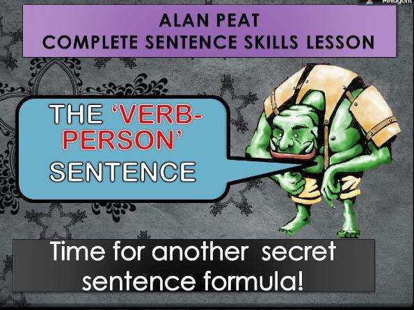 VERB-PERSON SENTENCES COMPLETE LESSON (ALAN PEAT) KS2