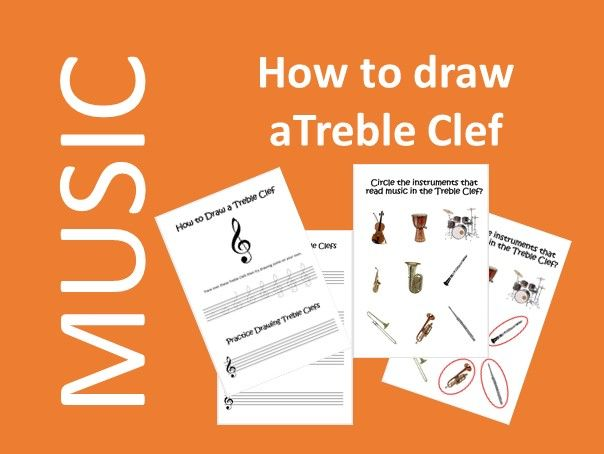How to draw a Treble Clef - Music Distance Learning