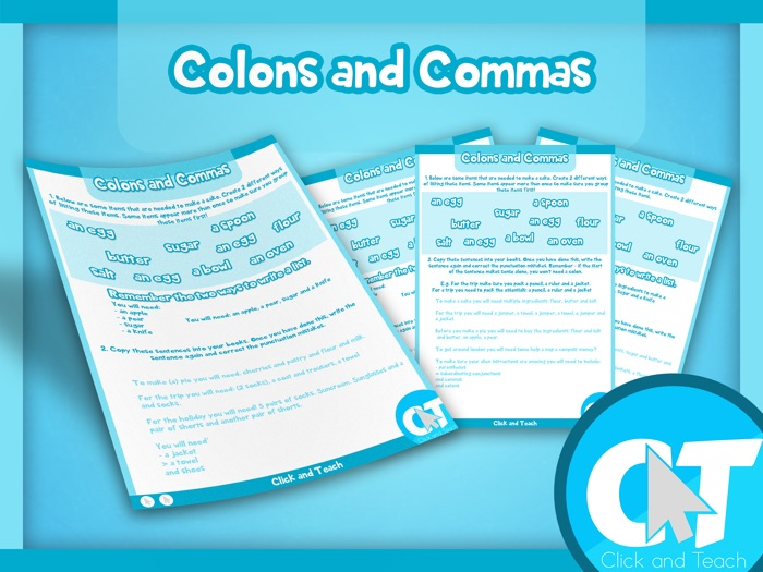 KS2 - Colons and Commas
