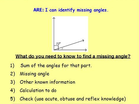 Missing Angles Year 5  Lesson Pack