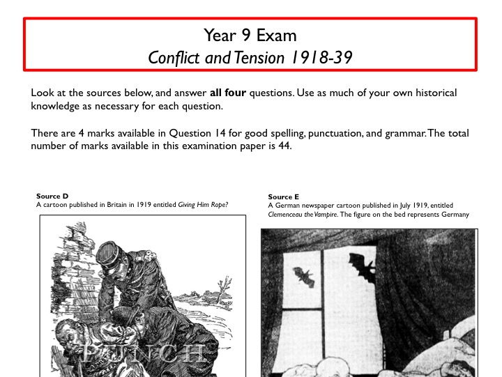 New AQA Specification Conflict and Tension assessment, mark scheme, and annotated model answers