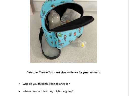 Simple inferencing pictures and questions